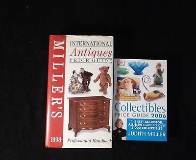 Lot of 2 JUDITH MILLER COLLECTIBLES & ANTIQUES PRICE GUIDE 1998 & 2006