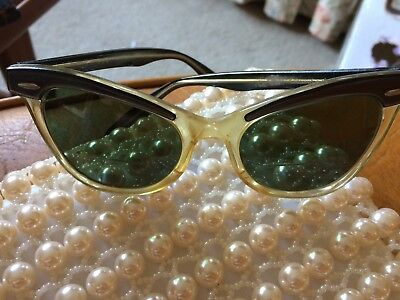 Original Vintage 1950's? Bausch & Lomb Cat Eye Glasses - Size 5 1/2 made in USA