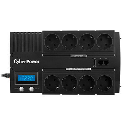NEW CyberPower BR1200ELCD Line-Interactive 1200VA 8AC outlet(s) Black uninterrup