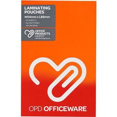 NEW PHE OPD LAMINATING POUCHES 150 MICRON 54 X 86MM PACK 50 free shipping