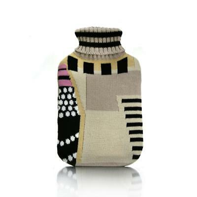 Hot Water Bottle Winter Warm Rubber Bag w knitted Cover Therapy Warmer Auriginal
