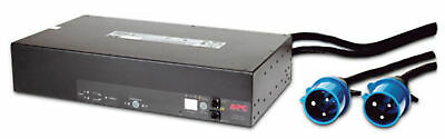 NEW APC Rack ATS, 230V, 32A, IEC309 in, (16)C13 (2)C19 out Black power distribut