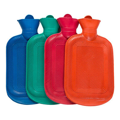 AU STOCK Rubber HOT WATER BOTTLE Bag WARM Relaxing Heat / Cold Therapy
