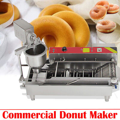 【Ups】3 Sets Mold Commercial Automatic Donut Maker Making Machine, Wide Oil Tank