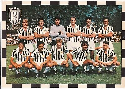 Calcio/football Cartolina JUVENTUS 1978-'79 con Zoff originale