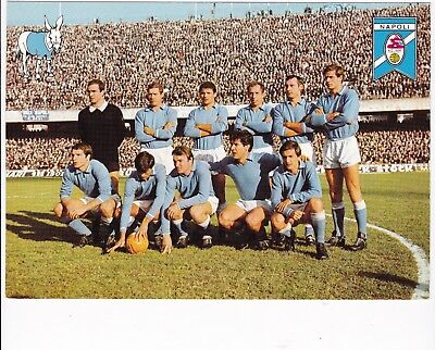 Calcio/football Cartolina NAPOLI anni '60 originale
