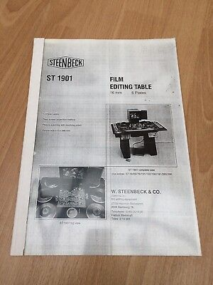 Steenbeck Manual ST1901 for 16mm Editing Table 6 Plates