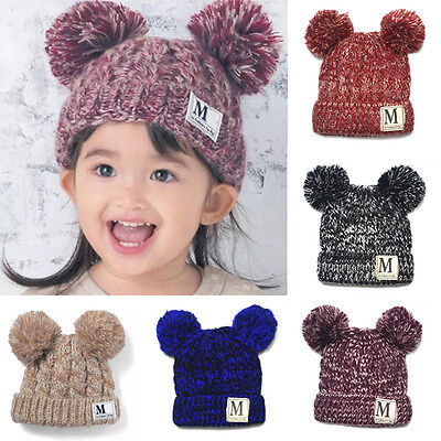 AU Toddler Kids Girl&Boy Baby Infant Winter Warm Crochet Knit Hat Beanie Cap