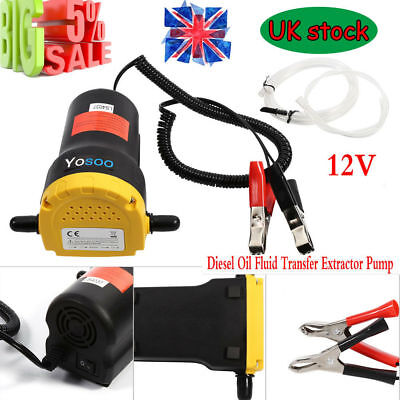 12V 60W Electric Fluid Extractor Oil Diesel Transfer Pump Siphon Car Moto Bike
