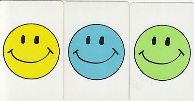 Genuine Swap / Playing Card - 3 Single -  Smiley Face