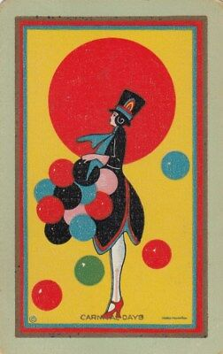 Vintage Swap / Playing Card - 1 Single Named - Carnival Days 2