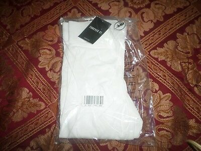 Forever 21 @AWESOME@ NWT Skinny/Slimming Long Leggings - White - XS