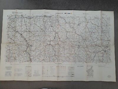 1939 Europe road map Auxerre - Dijion, first edition sheet 65