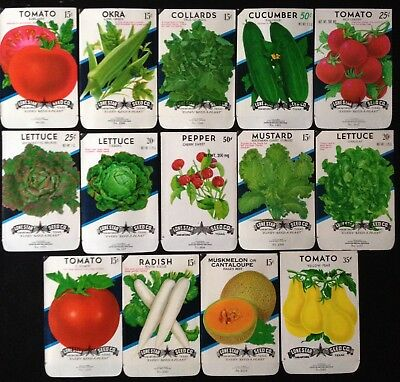 Vintage Seed Packet's~Lone Star Seed Co.~ Lot Of (14) Vegetables
