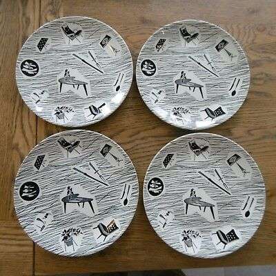 "Four Homemaker 9"" Plates by Ridgway"