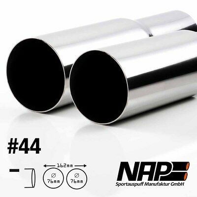 Nap Weld-On End Pipe 0 3/32x2.99in Sharp with Abe Stainless Steel