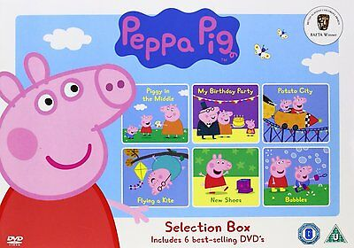 Peppa Pig Selection DVD Box Set 6 disc Fast Post CBeebies 5030305107840