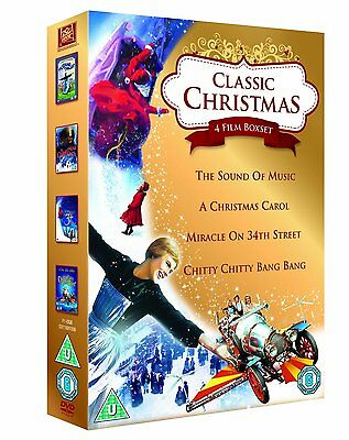 Classic Christmas 4 Film Collection Miracle on 34th Street, A Christmas Carol