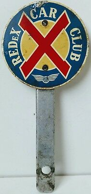VINTAGE REDeX CAR CLUB BADGE V.RARE 1960s/70s ? THIS IS A VERY RARE & VERY COLLE