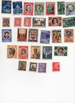 VATICAN Stamps 30 Different Off Paper