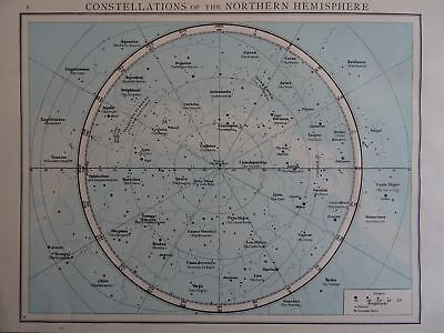 Map 1896 CONSTELLATIONS OF THE NORTHERN HEMISPHERE The Time Atlas 1st Gen