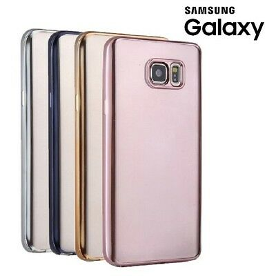 Premium Silicone Gel Case Electroplated Back Cover For Samsung Galaxy S7