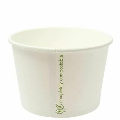 Vegware Compostable Soup Container Bowl Paper Food Takeaway Disposable x500