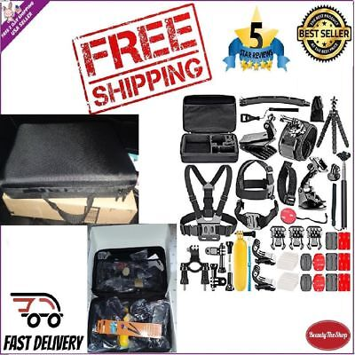 50 Gopro Accesories Set Kit Hero 1 2 3 4 5 6 Camera Head Chest Mount Bike Sports