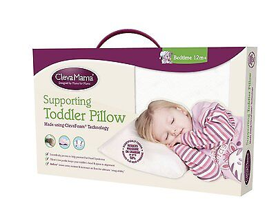 Clevamama Clevafoam Toddler Pillow From 12 months Brand New 5055380098494