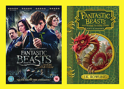 Fantastic Beasts and Where To Find Them Gift Pack DVD & Hardback book Brand New