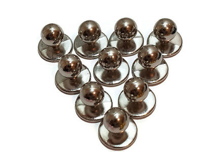 Chef Jacket Buttons Set X 10 Button Pack Silver New Spare Replacement Studs