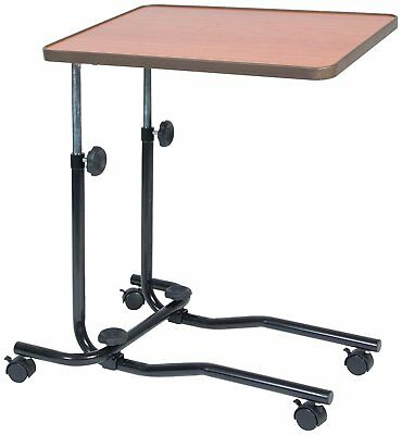 NRS Healthcare M15691 Portable Overbed/Chair Table - Tilting, Adjustable &