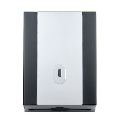 Silver Black Paper Hand Towel Dispenser – Toilet Towels – Wall Mounted Locking