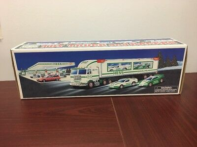 1997 Hess Toy Truck And Racers, BRAND NEW IN BOX !!!