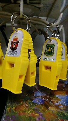 Sale******SMOKEY WHISTLES.  *FACE, OR* FOREST SERVICE .A MUST FOR SAFETY GEAR.**