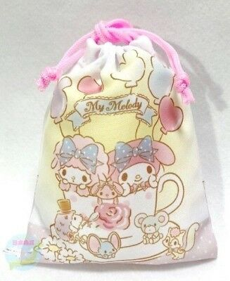 NEW! SANRIO My Melody KAWAII Japanese style Drawstring Bag Pouch Accessory Case