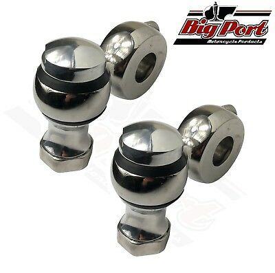 "Stainless Steel Round Top Motorcycle 7/8"" Handlebar Low Riser Bobber Chopper"