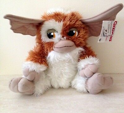 Gremlins Gizmo Brown & White Fluffy Soft Plush Toy with Tag Warner Bros PMS