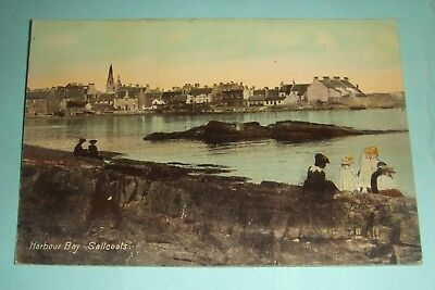 North Ayrshire - Postcard View Of The Harbour, Saltcoats circa 1910.