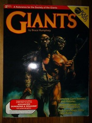 AD&D Module - Role Aids - Giants Mint unused Condition (AD&D, TSR)