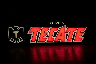 tecate beer cerveza led light up sign wall lamp eagle bar store man