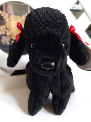 "TY Beanie Baby ~ GIGI 7"" Black Poodle Dog ~ NEW with Tags Retired PE Pellets"