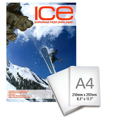 Ice Glossy Coated A4 Self Adhesive Inkjet Photo Paper 130gsm - 25 Sheets