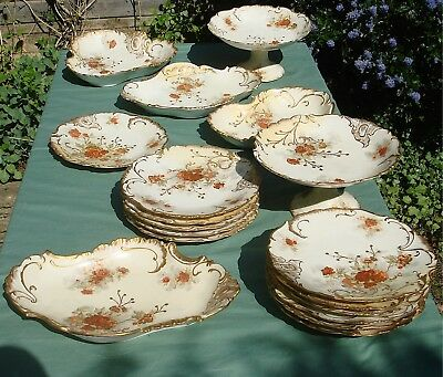 Limoges Scalloped Blush Ivory Lunch/Tea Service