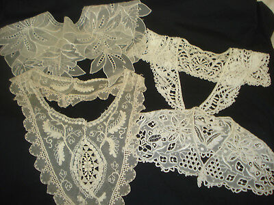 Lot 4 Lovely Antique Lace Collars