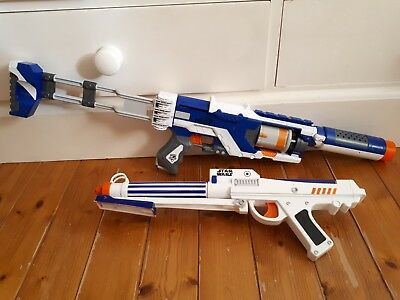 Nerf Gun Bundle - Spectre REV-5 & Star Wars Gun with Laser Sight + Darts/Bullets
