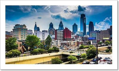 View Of The Philadelphia Skyline From Art Print Home Decor Wall Art Poster - F