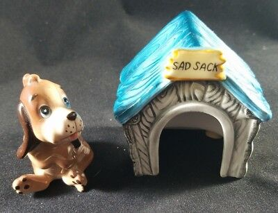 Vintage Dog in Doghouse Salt and Pepper Shakers