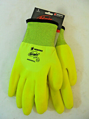 Ninja Ice Gloves - Memphis - Yellow - Large Insulated - N9690HVL