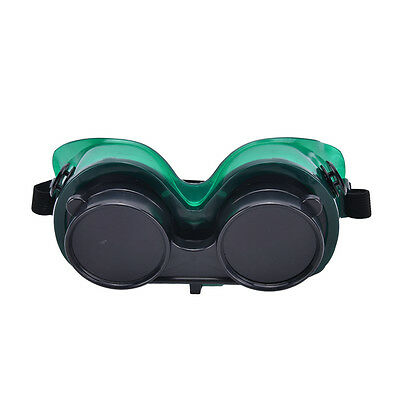 Welding Goggles With Flip Up Darken Cutting Grinding Safety Glasses Green""